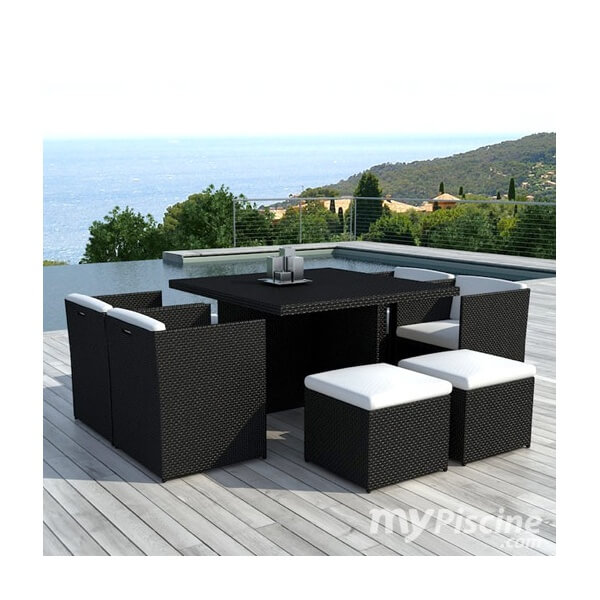 table de jardin noire. Black Bedroom Furniture Sets. Home Design Ideas