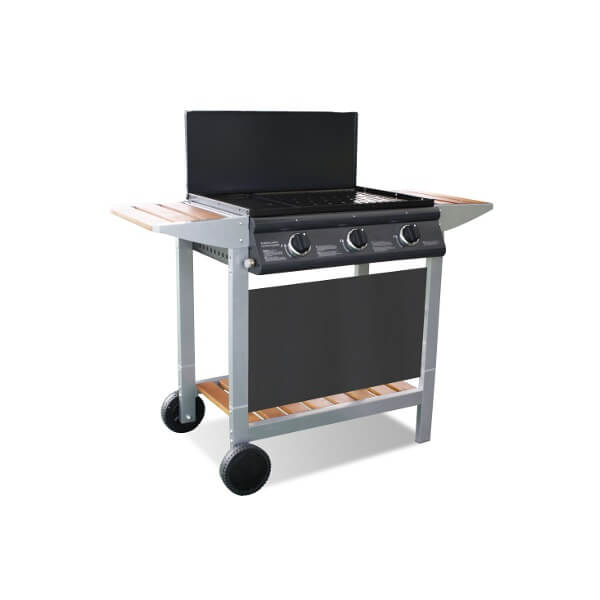 plancha gaz cookin garden cook 39 in plancha en bois. Black Bedroom Furniture Sets. Home Design Ideas