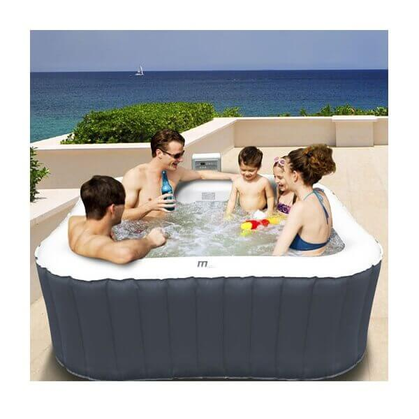 Spa gonflable mspa alpine lite b091l 6 places mypiscine - Piscine gonflable carre ...