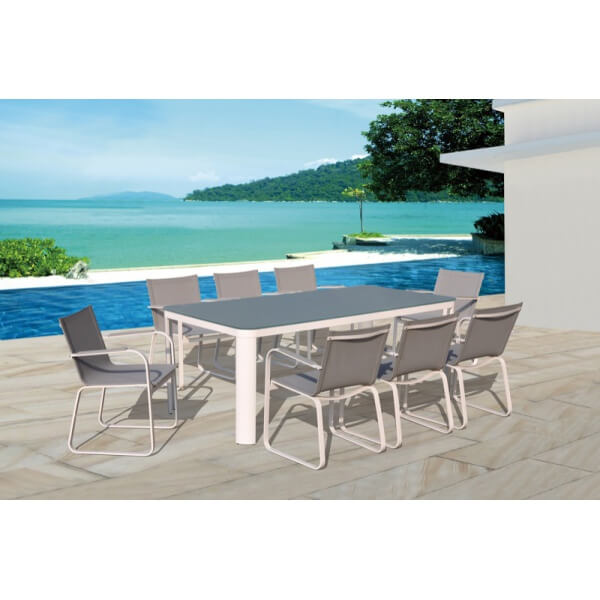 Table et chaises de jardin sydney mypiscine for Table 8 places