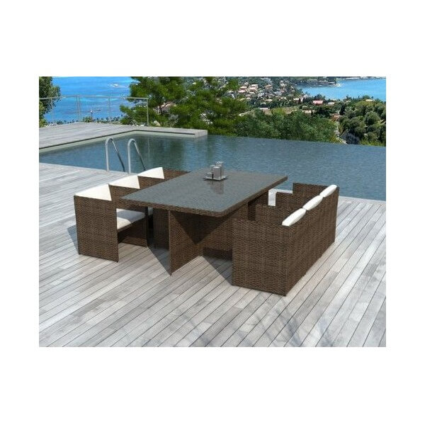table et chaise de jardin resine tressee maison design. Black Bedroom Furniture Sets. Home Design Ideas
