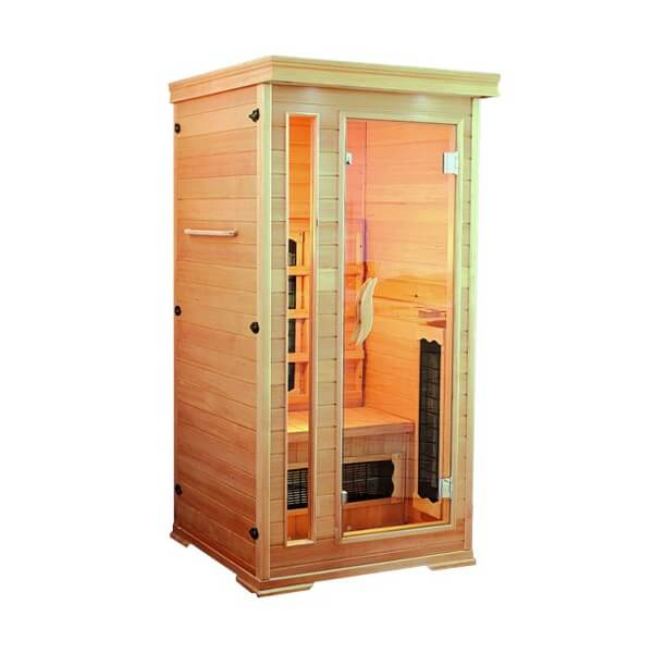 cabine de sauna infrarouge helsinki mypiscine. Black Bedroom Furniture Sets. Home Design Ideas