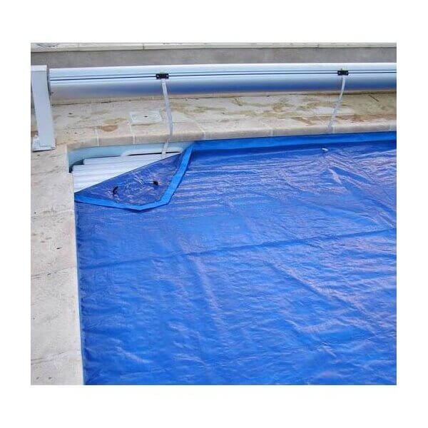 B che de proctection volet piscine protectone vert 12 x 5 m for Bache piscine