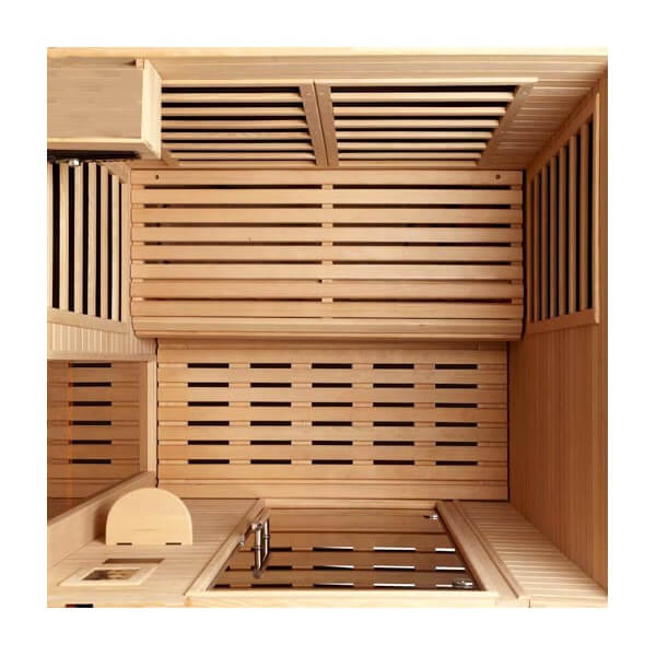 cabine de sauna infrarouge palazzo pour 2 personnes mypiscine. Black Bedroom Furniture Sets. Home Design Ideas