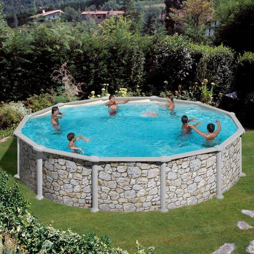 Piscine hors sol gr skyathos kitpr458p ronde 460 h132 for Piscine hors sol legislation