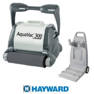 Hayward Aquavac 300 Brosses mousse + Chariot de transport