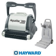 Hayward Aquavac 300 Brosses picots + Chariot de transport