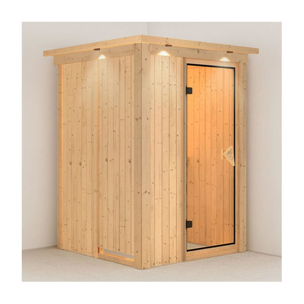 sauna traditionnel karibu lenja 68 mm plug play. Black Bedroom Furniture Sets. Home Design Ideas