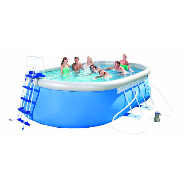 piscine autoportante ovale fast set pool 549 x 366 h 122 cm