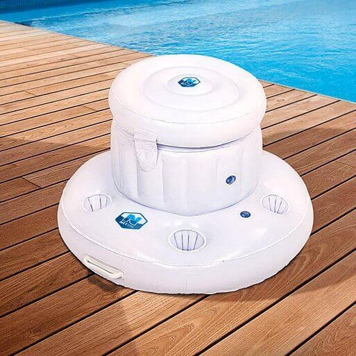 Bar gonflable flottant 5 verres pour spa mypiscine for Bar gonflable piscine