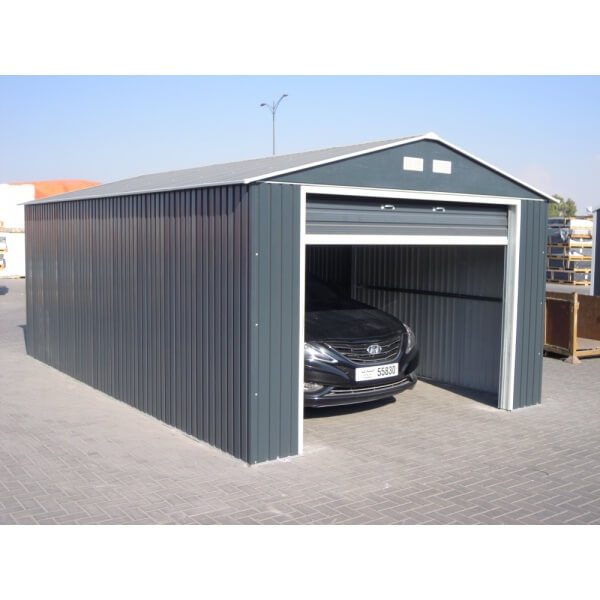 garage en m tal anthracite duramax mypiscine. Black Bedroom Furniture Sets. Home Design Ideas