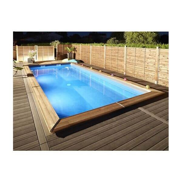 Piscine bois rectangulaire ma va 500 mypiscine for Piscine durapin