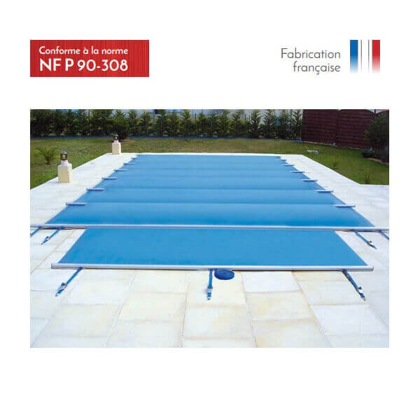 B che barres summum beige opaque pour piscine 11 x 5 m for Couverture piscine 4 saisons