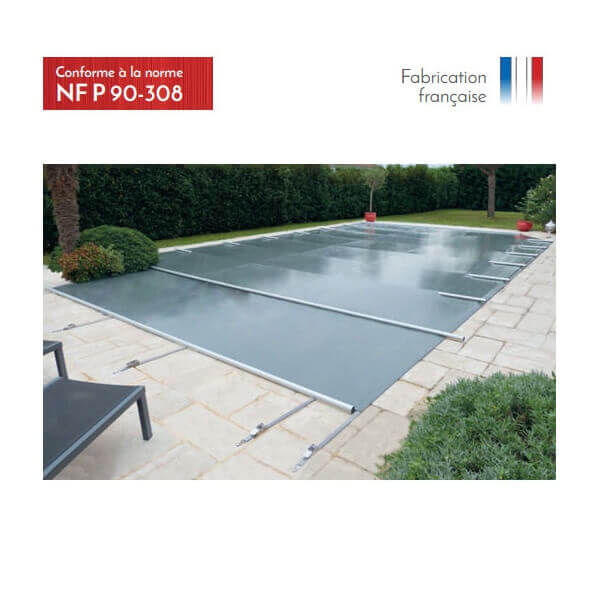 B che barres access beige opaque pour piscine 12 x 5 m for Bache a barre piscine