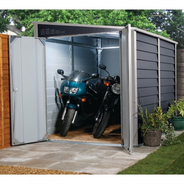 Garage motos en m tal titan 950 mypiscine for Amenagement garage moto