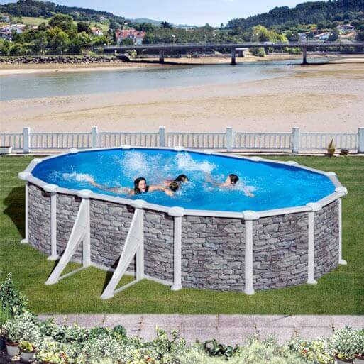 Piscine hors sol gr c rcega kitprov618po mypiscine for Sable piscine