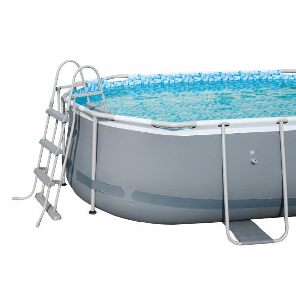 Piscine tubulaire power steel frame pool 424 x 250 h 100 cm for Piscine bestway tubulaire