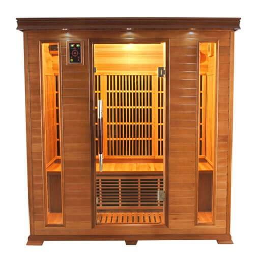 Sauna infrarouge luxe 4 places france sauna pas cher - Sauna infrarouge 4 places ...