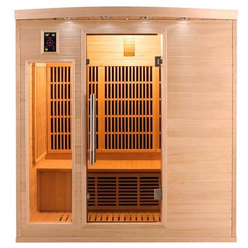 Sauna infrarouge apollon 4 places france sauna mypiscine - Sauna infrarouge 4 places ...