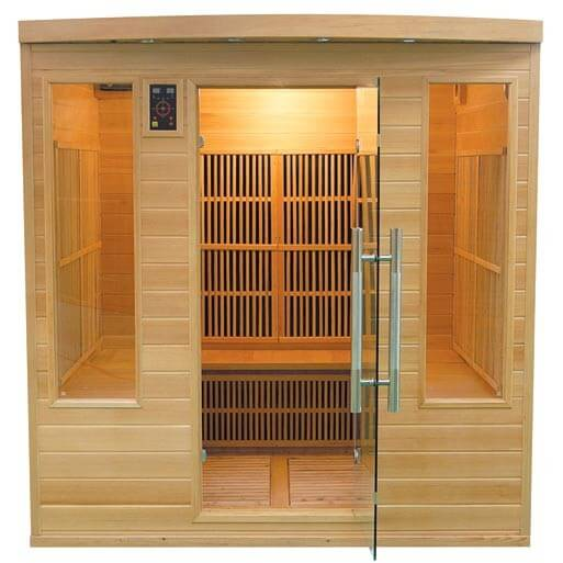 sauna infrarouge apollon club 5 6 places france sauna pas cher. Black Bedroom Furniture Sets. Home Design Ideas