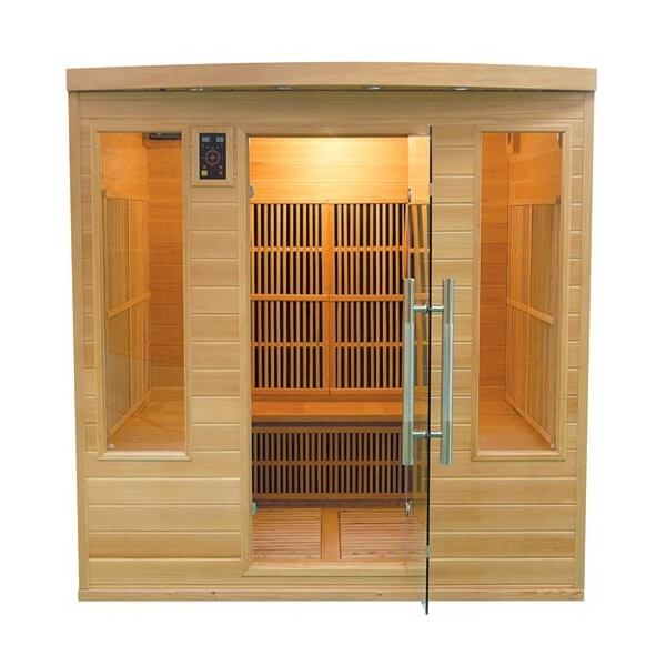 Sauna infrarouge apollon club 5 6 places france sauna mypiscine - Sauna infrarouge 4 places ...