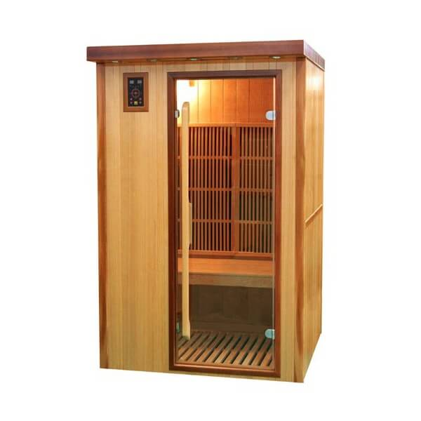sauna infrarouge 2 places good sauna infrarouge spectra. Black Bedroom Furniture Sets. Home Design Ideas