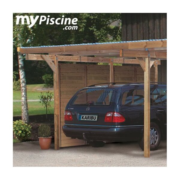 carport en bois double eco 1 variante a mypiscine. Black Bedroom Furniture Sets. Home Design Ideas