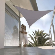 Voile d'ombrage imperm. triangulaire 3.6m polyester 200g/m²
