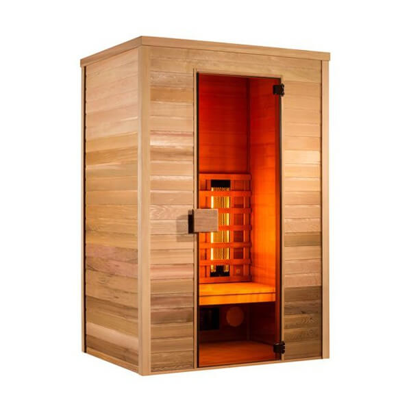 sauna infrarouge infrawave 2 places. Black Bedroom Furniture Sets. Home Design Ideas
