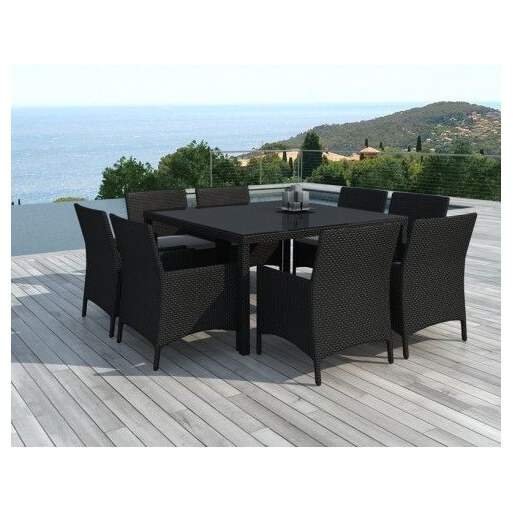 table jardin 8 personnes resine. Black Bedroom Furniture Sets. Home Design Ideas