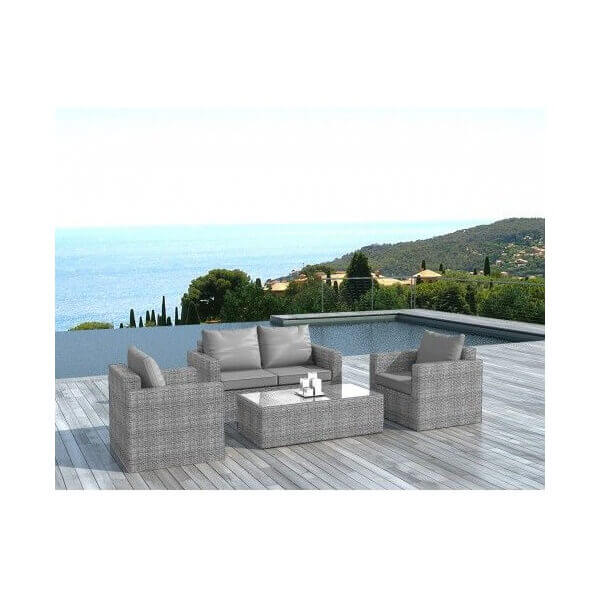 salon de jardin houston 4 places mypiscine. Black Bedroom Furniture Sets. Home Design Ideas