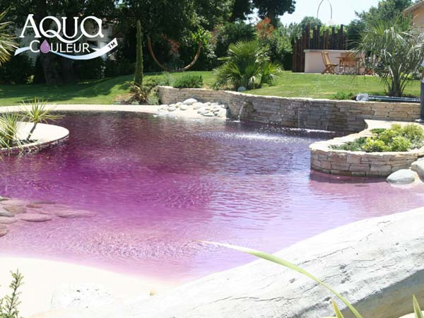 Aquacouleur piscine colorant eau fushia lagon lavande for Piscine tendance
