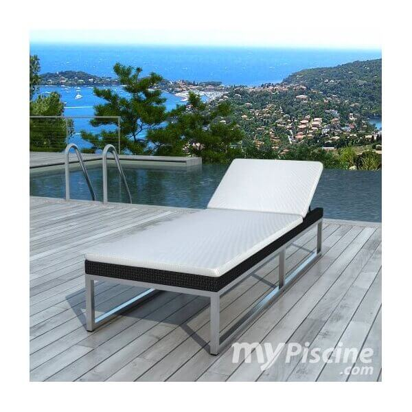 bain de soleil barcelonne en r sine tress e mypiscine. Black Bedroom Furniture Sets. Home Design Ideas