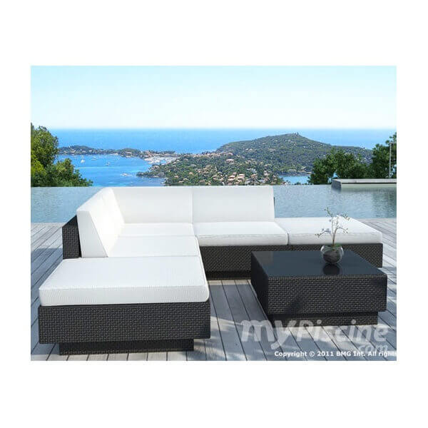 salon de jardin noum a 5 places mypiscine. Black Bedroom Furniture Sets. Home Design Ideas