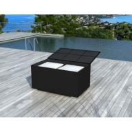 Box Noir - Coffre de rangement en résine tressée noir