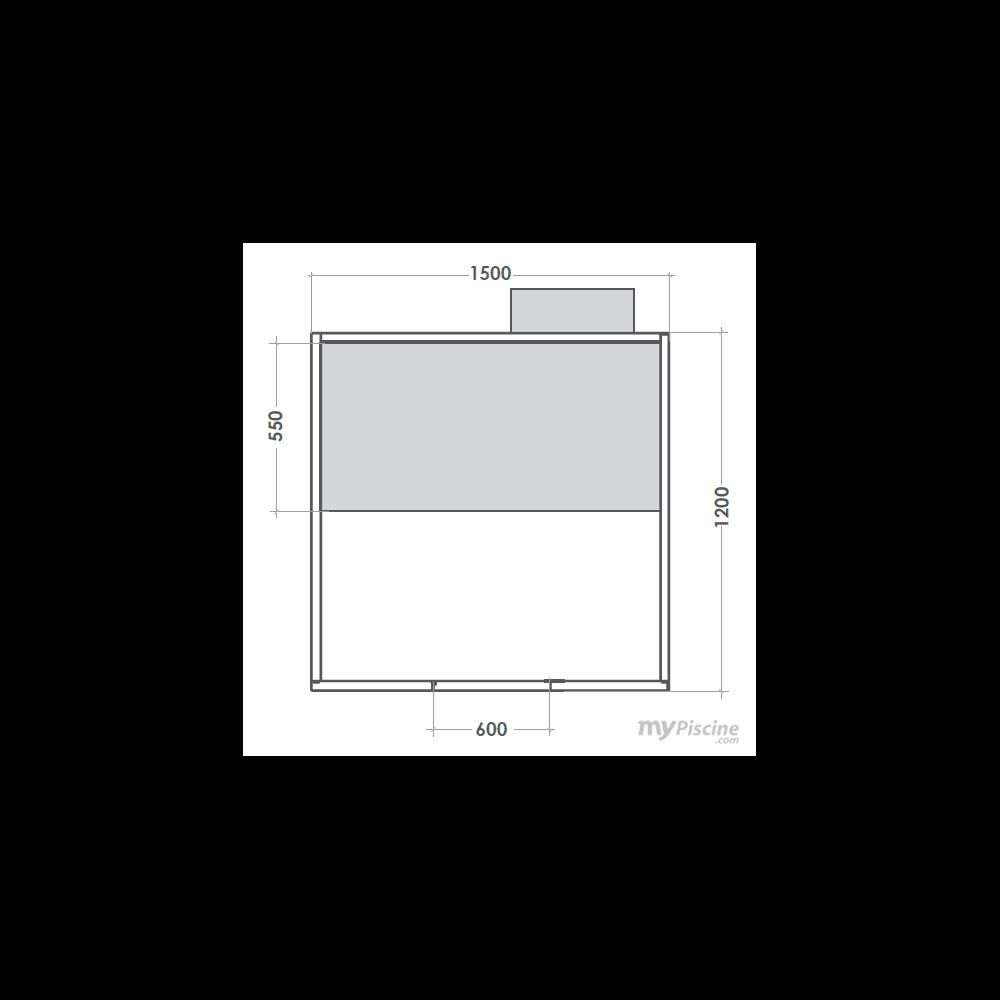 cabine hammam multivap 2 3 places mypiscine. Black Bedroom Furniture Sets. Home Design Ideas