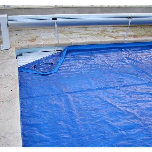B che de proctection volet piscine protectone vert 12 x 5 m for Protection piscine