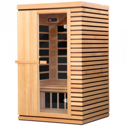 cabine de sauna infrarouge palazzo pour 2 personnes mypiscine. Black Bedroom Furniture Sets. Home Design Ideas