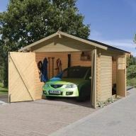Garage en bois 28mm - 297 x 447 cm