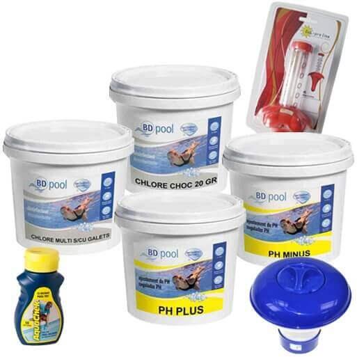kit de d marrage de traitement pour piscine hors sol. Black Bedroom Furniture Sets. Home Design Ideas