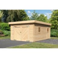 Garage en bois 40mm Karibu à toit plat