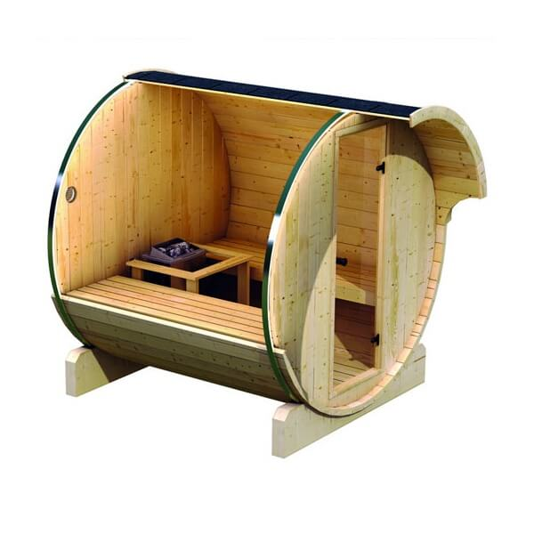sauna d 39 ext rieur karibu baril 1 po le de sauna 9 kw. Black Bedroom Furniture Sets. Home Design Ideas