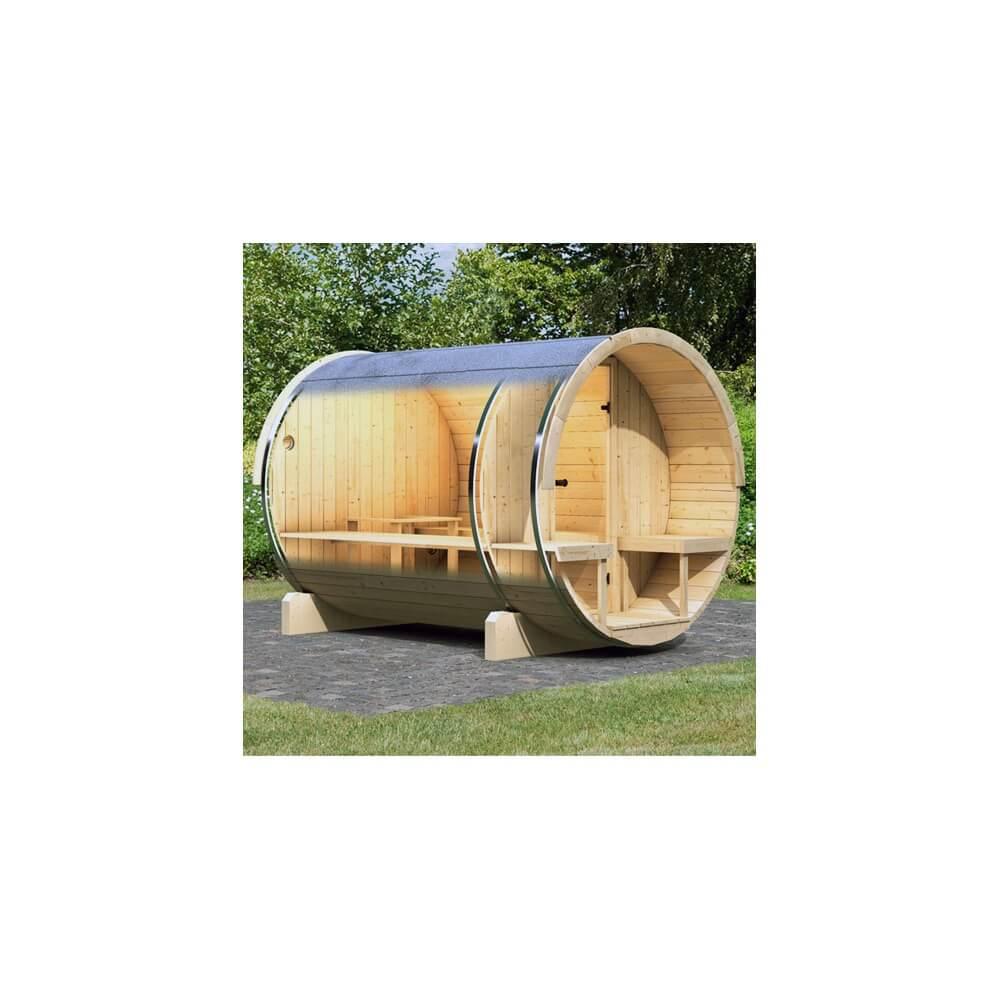 sauna d 39 ext rieur karibu baril 2 po le de sauna 9 kw. Black Bedroom Furniture Sets. Home Design Ideas