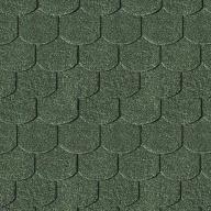 Shingels Queue de Castor vert foncé - Paquet de 3m²
