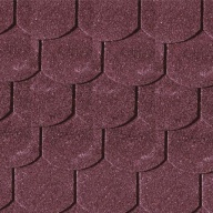 Shingels Queue de Castor rouge foncé - Paquet de 3m²
