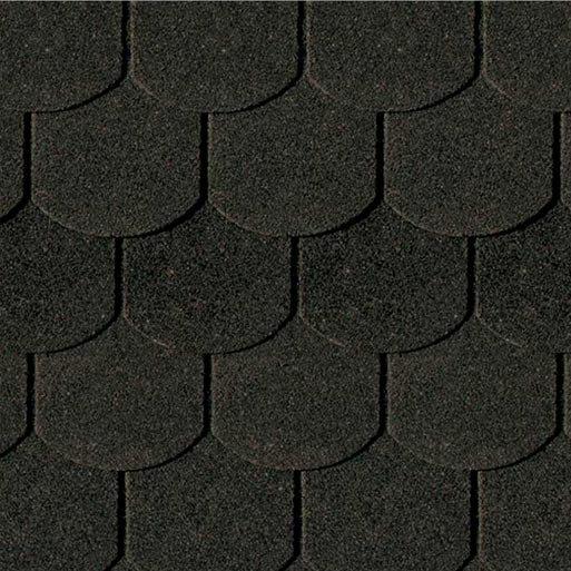 Shingels Queue de Castor noir - Paquet de 3m²