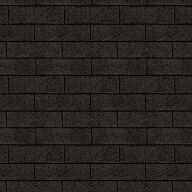 Shingels Rectangulaire noir - Paquet de 3m²