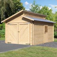 Garage en bois 28mm avec toit gradin