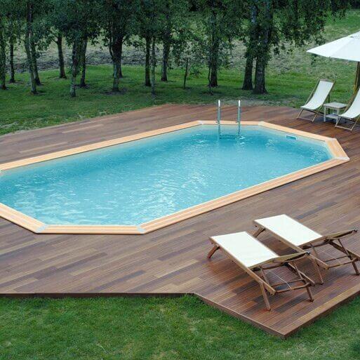 Piscine bois ubbink oc a 400 x 610 x cm mypiscine for Accessoire piscine bois