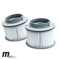 Lot de 2 cartouches de filtration pour spa Mspa